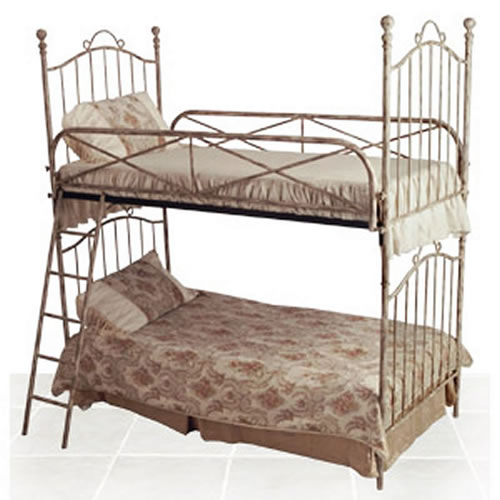 Theme rooms gt pick your pattern gt vintage gt vintage iron twin bunk bed