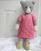 Vintage Lace Dress & Shoes Organic Hand-Knit Doll Clothes