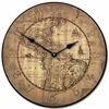 Vintage Parchment World Map Kids Wall Clock
