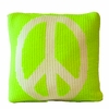Vintage Pillow with Peace Sign