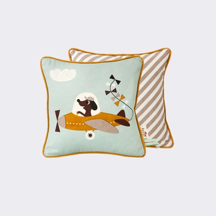 Vintage Plane Throw Pillow