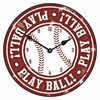 Vintage Play Ball Baseball Kids Wall Clock