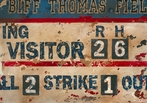 Vintage Scoreboard - Baseball Canvas Wall Art