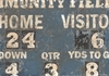 Vintage Scoreboard - Football Canvas Wall Art