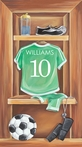 Vintage Soccer Locker Canvas Reproduction