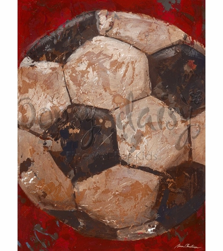 Vintage Soccerball Canvas Wall Art