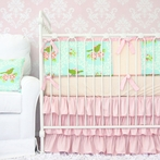Vintage Songbird Crib Bedding Set