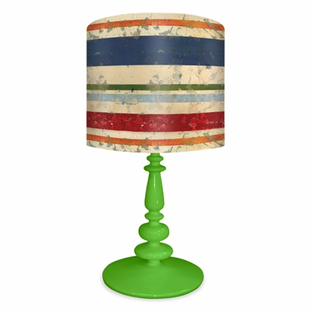 Vintage Stripes Shade Lamp