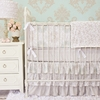Vintage Taupe Vine Crib Bedding Set
