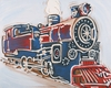 Vintage Train Hand Painted Canvas