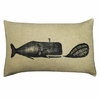 Vintage Whale Throw Pillow
