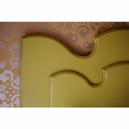 Vintage Whimsy Carved Headboard
