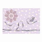 Violet Birds Canvas Reproduction