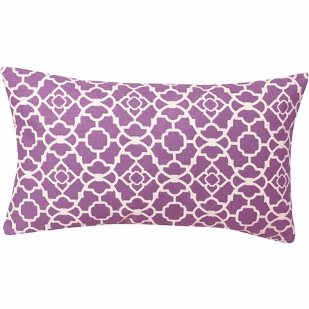 Violet Damask Lumbar Pillow