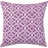 Violet Damask Throw Pillow