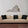 Virginia Map Wooden Wall Art
