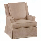 Virginia Slipcovered Swivel Glider Chair