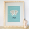 Virgo Zodiac Sign Art Print