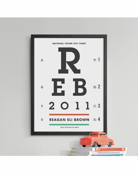 Vision Chart Custom Framed Art Print
