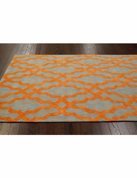 Viv Plush Cotton Rug Orange
