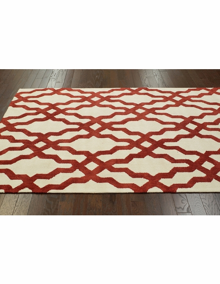 Viv Plush Cotton Rug Red