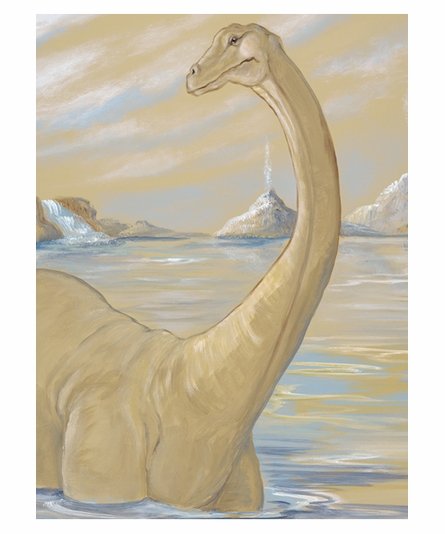 Wading Brachiosaurus Canvas Reproduction