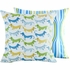 Wagging Dog Throw Pillow in Blue