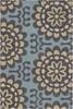 Wallflower Blue Amy Butler Rug