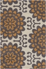 Wallflower Orange Amy Butler Rug
