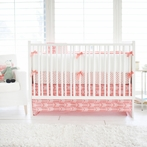 Wanderlust in Coral Crib Bedding Set