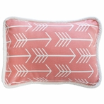 Wanderlust in Coral Throw Pillow