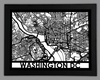 Washington DC Framed City Map