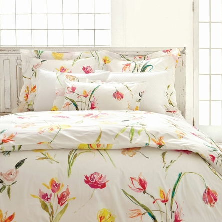 Watercolor Flowers Standard Sham