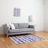 Watercolor Houndstooth Amethyst Flat Weave Rug