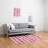 Watercolor Houndstooth Flat Weave Rug