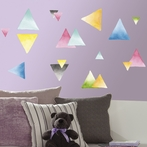 Watercolor Triangles Wall Decals