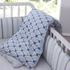 Wave Castle Reversible Crib Quilt
