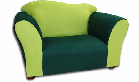 Wave Chair in Green Microsuede