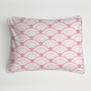 Wave Orange Boudoir Pillow