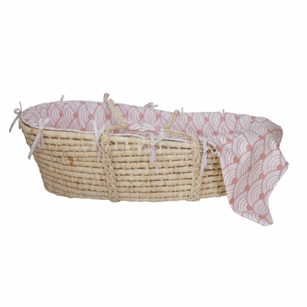 Wave Orange Moses Basket
