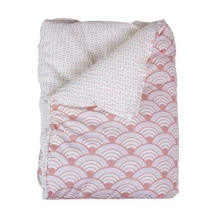 Wave Orange Reversible Crib Quilt