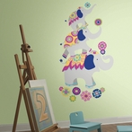 Waverly Pink & Yellow Elephant Giant Wall Decals