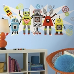 Waverly Robots Giant Wall Decals