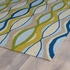 Waves Indoor/Outdoor Rug in Sand and Blue