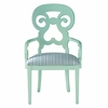 Wayfarer Arm Chair in Ticking Marine Fabric