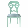 Wayfarer Side Chair in Seaside Sea Glass Fabric