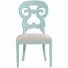 Wayfarer Side Chair in Ticking Marine Fabric