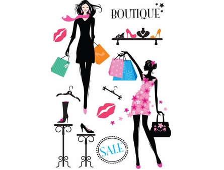 We Love Shopping Wall Decals