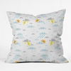 Weather Clouds Throw Pillow