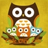 Wee Three Owls Canvas Reproduction
